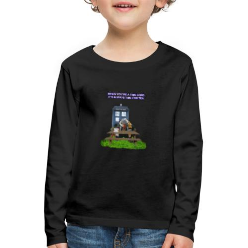 TIME AND SPACE AND TEA - Kids' Premium Longsleeve Shirt