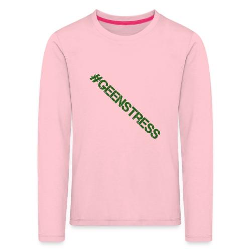 geen stress gif - Kinderen Premium shirt met lange mouwen