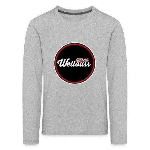 Wellouss Fan T-shirt | Rood - Kinderen Premium shirt met lange mouwen