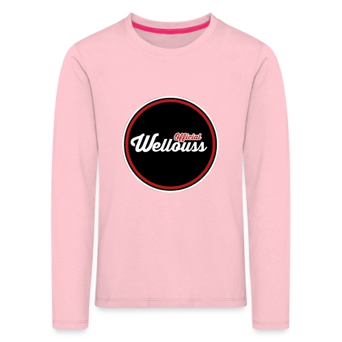 Wellouss Fan T-shirt   Rood - Kinderen Premium shirt met lange mouwen