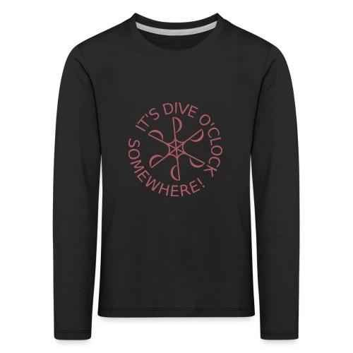 Dive o clock Dark Pink - Kids' Premium Longsleeve Shirt
