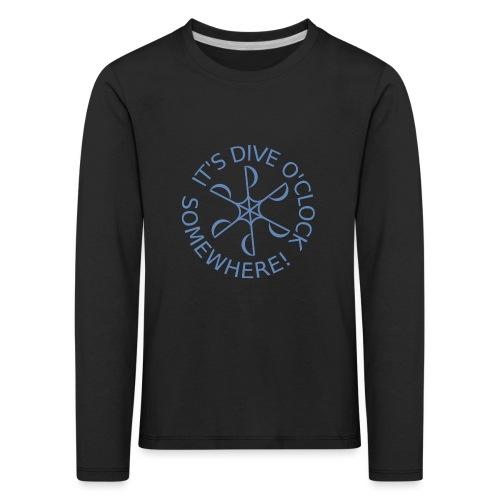 Dive o clock Light Blue - Kids' Premium Longsleeve Shirt