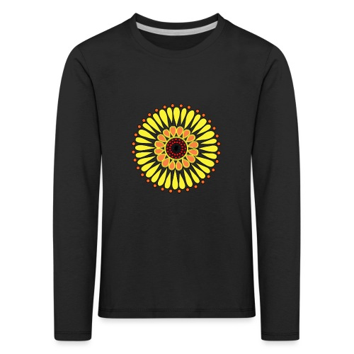 Yellow Sunflower Mandala - Kids' Premium Longsleeve Shirt