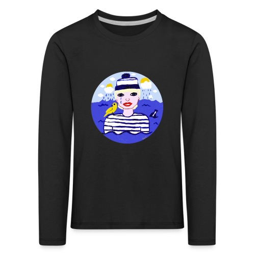 the sailor in love with the sea - Kinder Premium Langarmshirt