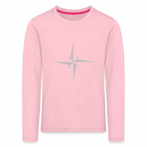 Compas Rose - Børne premium T-shirt med lange ærmer