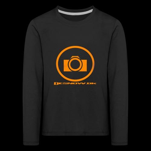 Orange 2 png - Børne premium T-shirt med lange ærmer