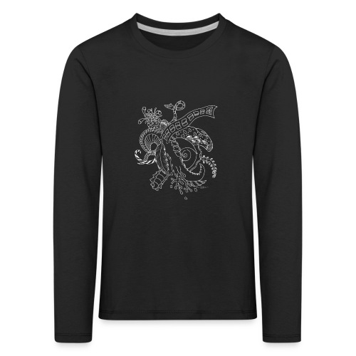 Fantasy white scribblesirii - Kids' Premium Longsleeve Shirt