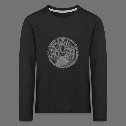 Maschinentelegraph (grå oldstyle) - Børne premium T-shirt med lange ærmer