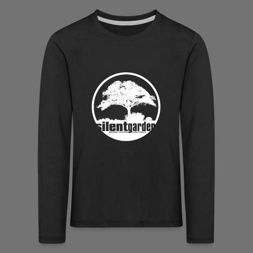 hiljainen puutarha (valkoinen) - Lasten premium pitkähihainen t-paita