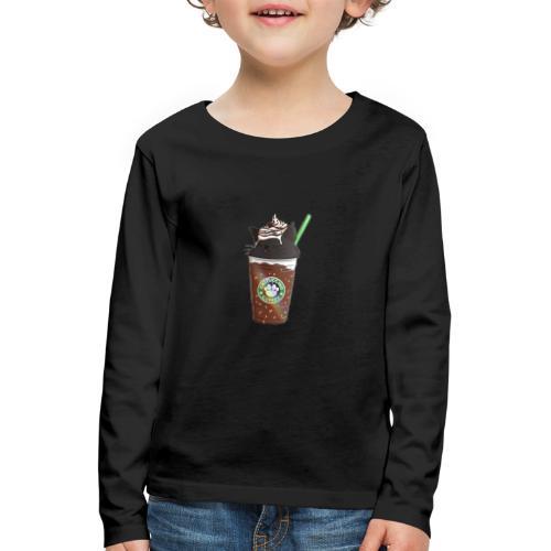 Catppucino Dark Chocolate - Kids' Premium Longsleeve Shirt
