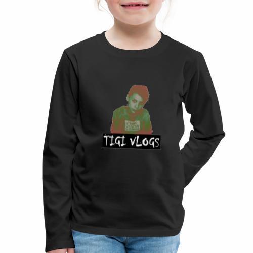 TIGIVLOGS JUL MERCH! - Långärmad premium-T-shirt barn