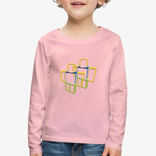 Sqaure Noob Person - Kids' Premium Longsleeve Shirt