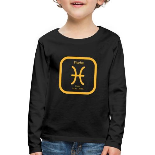 Horoskop Fische12 - Kinder Premium Langarmshirt