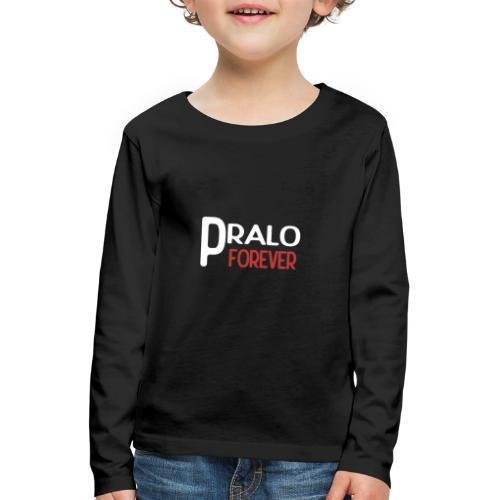 pralo forever blanc et rouge - T-shirt manches longues Premium Enfant