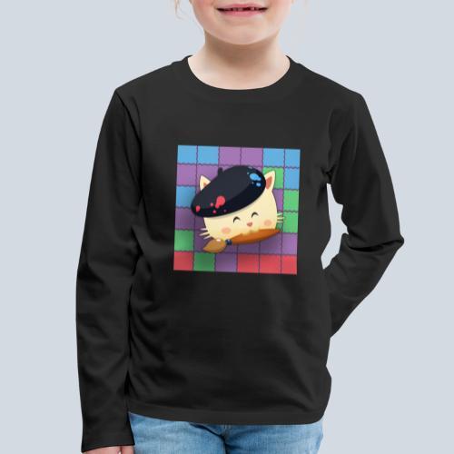 Hungry Cat Picross - T-shirt manches longues Premium Enfant