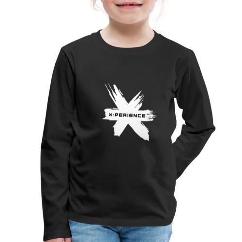 x-perience Logo weiß - Kinder Premium Langarmshirt