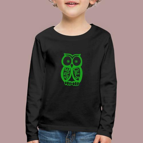 Save owls - T-shirt manches longues Premium Enfant