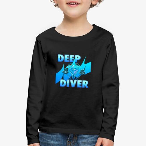 Deep Diver, Ocean Diamond. - Kids' Premium Longsleeve Shirt