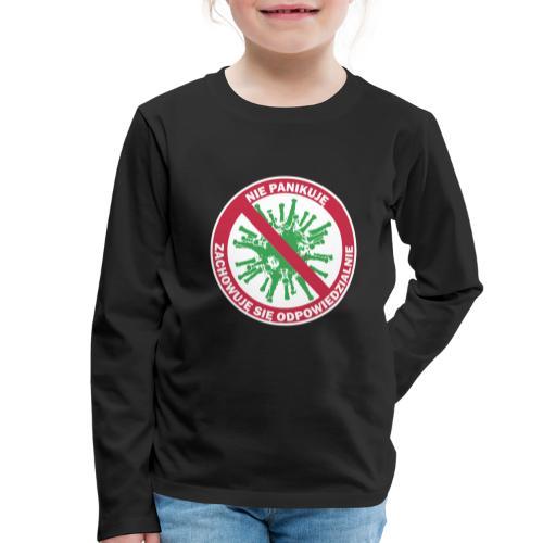 nie panikuje corona-virus - Koszulka dziecięca Premium z długim rękawem