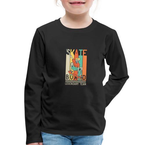 Skateboard 10 - Maglietta Premium a manica lunga per bambini