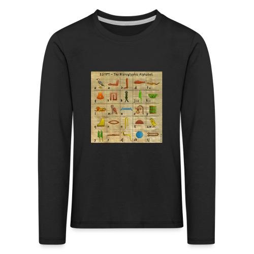 The Hieroglyphic Alphabet - Kinder Premium Langarmshirt