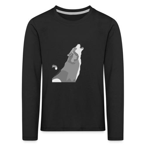 Wolf heulend - Kinder Premium Langarmshirt