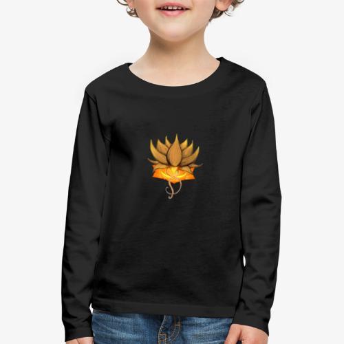 Lotus ventre chakra - T-shirt manches longues Premium Enfant