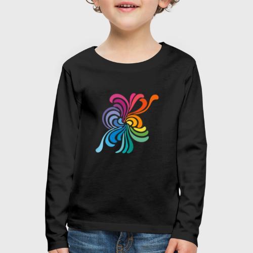 Fleurs multicolore - T-shirt manches longues Premium Enfant