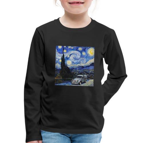 Notte stellata Van Gogh Citroen 2cv furgonette - Maglietta Premium a manica lunga per bambini