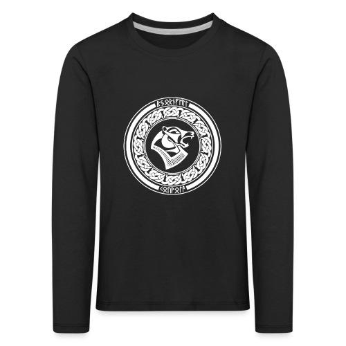 BjörnfellRisingWhite - Lasten premium pitkähihainen t-paita