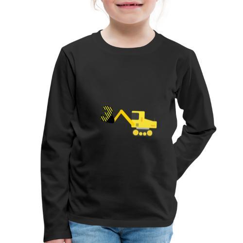 Trzecie urodziny traktor - Koszulka dziecięca Premium z długim rękawem