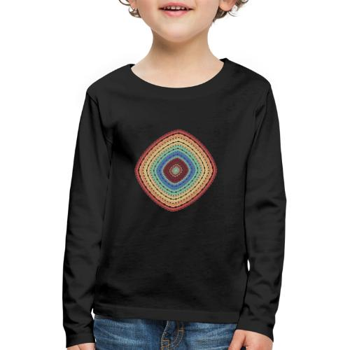 Lucky square in summery colors - Kids' Premium Longsleeve Shirt