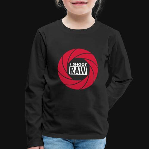 I SHOOT RAW - Kinder Premium Langarmshirt