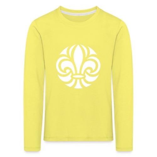 Scouterna-symbol_white - Långärmad premium-T-shirt barn