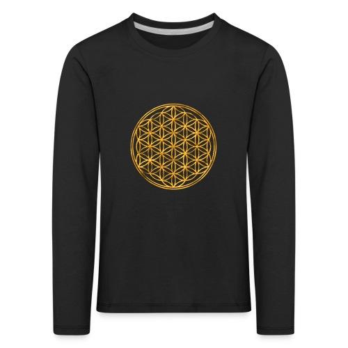 Flower of life GOLD 2 - Kinderen Premium shirt met lange mouwen