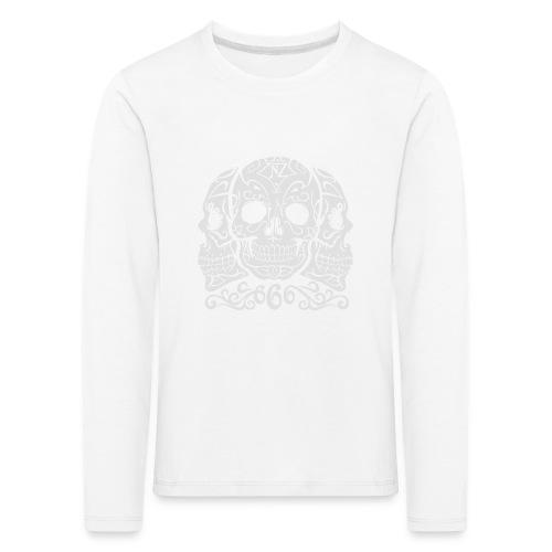 Skull Dia de los muertos - T-shirt manches longues Premium Enfant