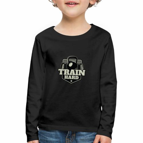 Train Hard - Kinder Premium Langarmshirt