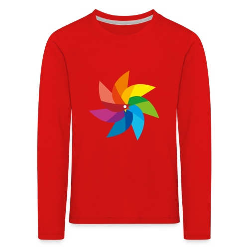 bunte Windmühle Kinderspielzeug Regenbogen Sommer - Kids' Premium Longsleeve Shirt