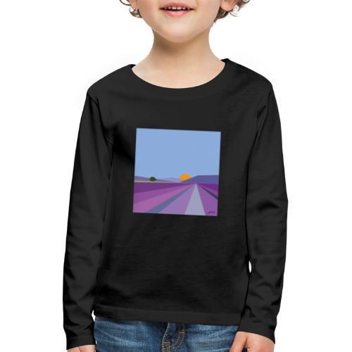 Lavande - T-shirt manches longues Premium Enfant