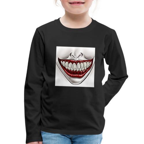 Smile Maske - Kinder Premium Langarmshirt