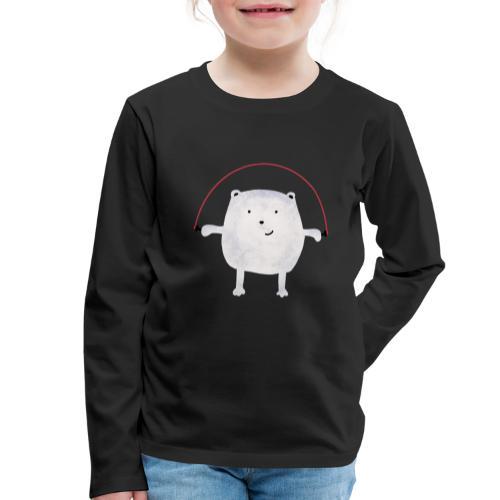 Jumping Monsta by #OneCreativeArts - Kinder Premium Langarmshirt