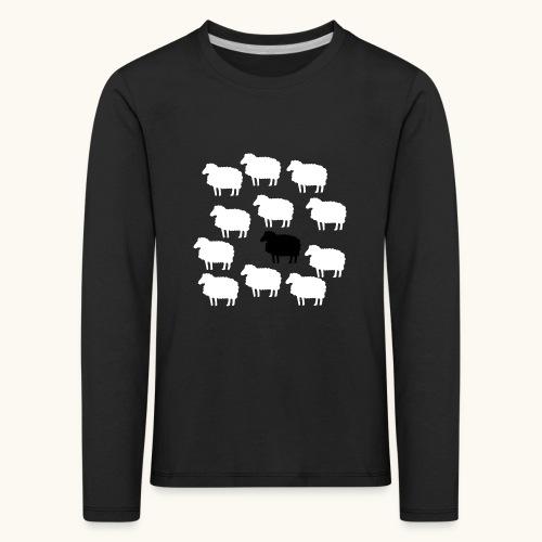 Lustige Schafherde Schwarzes Schaf Geschenkidee - T-shirt manches longues Premium Enfant