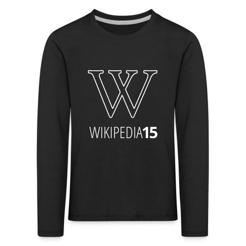W, rak, svart - Långärmad premium-T-shirt barn