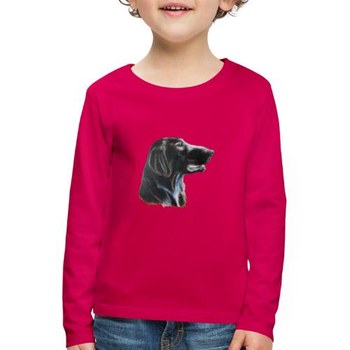 flatcoated retriever color - Børne premium T-shirt med lange ærmer