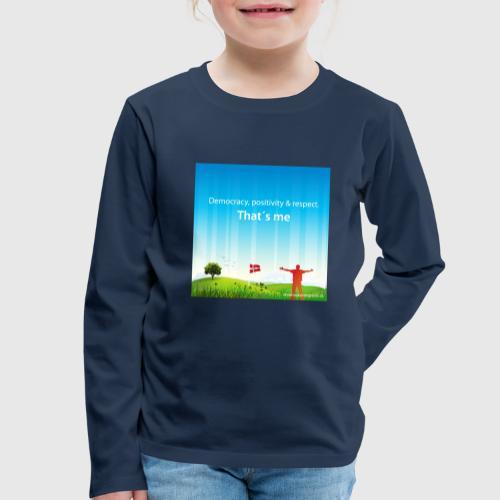 Rolling hills tshirt - Børne premium T-shirt med lange ærmer