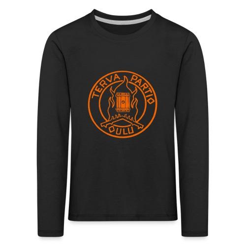 Tervapartio_oranssi - Lasten premium pitkähihainen t-paita
