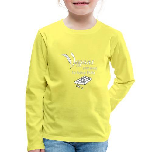 Vegans just want to have fun - tinte scure - Maglietta Premium a manica lunga per bambini