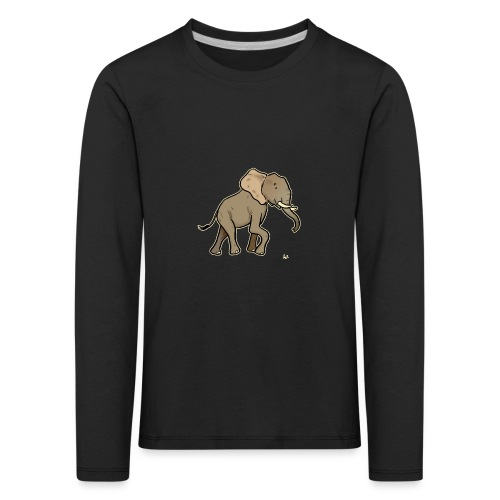 African Elephant (black edition) - Kinder Premium Langarmshirt