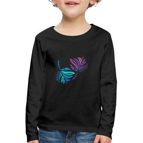 foglie geometriche - Maglietta Premium a manica lunga per bambini