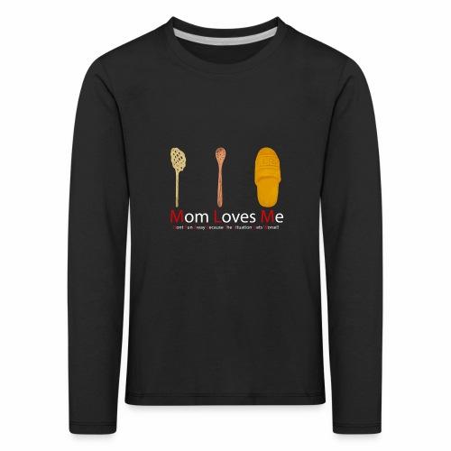 Mamma Loves Me - Maglietta Premium a manica lunga per bambini